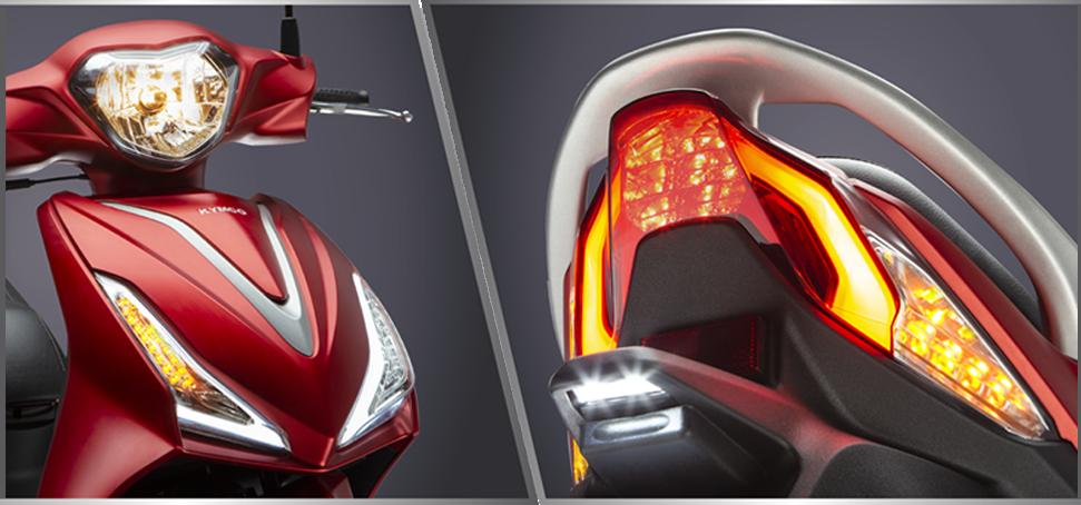 đèn led của xe ga 50cc Kymco Candy