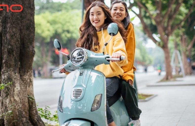 Xe máy điện Dibao Pansy S đồng hồ điện tử đèn led phá cách, hiện đại
